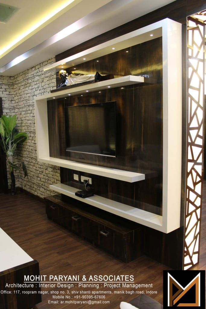 Wall Tv Unit Design Tv Unit: Mr. Jatin Lulla Ji Interior Modern Living Room By Mohit