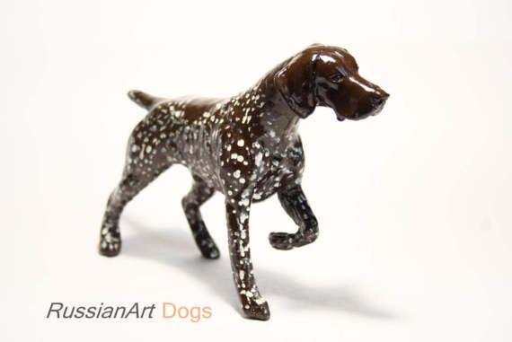 German Shorthaired Pointer Mini Hand Painted Figurine