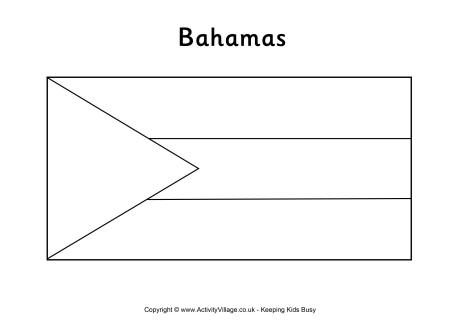 Bahamas Flag Colouring Page Bahamas Flag Flag Coloring Pages