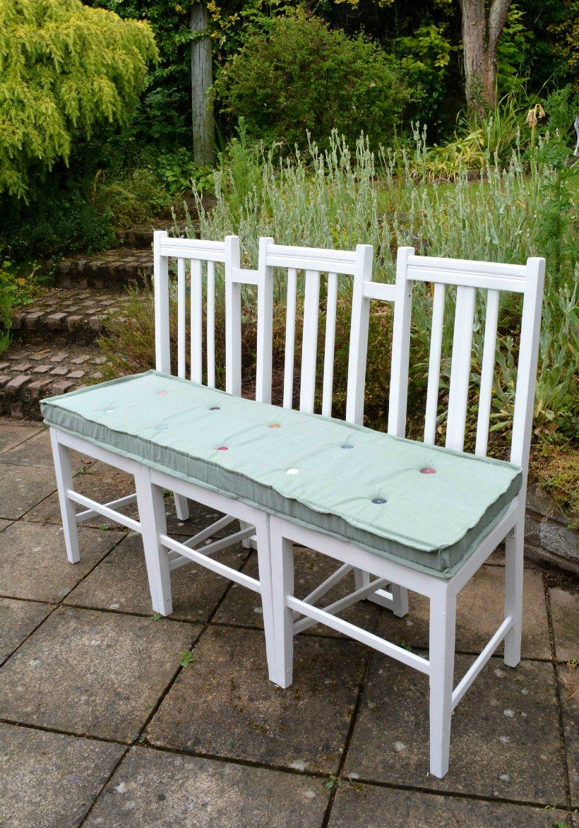 Outdoor Bench Seating Ideas Part - 16: DIY Bench Seat - Upcycled Furniture