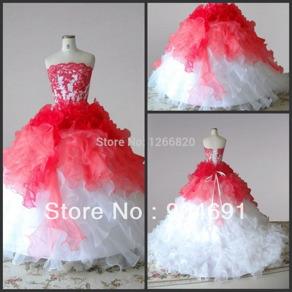 Find more quinceanera dresses information about red white organza find more quinceanera dresses information about red white organza junior bridesmaid dress girl stage performance gown ombrellifo Choice Image