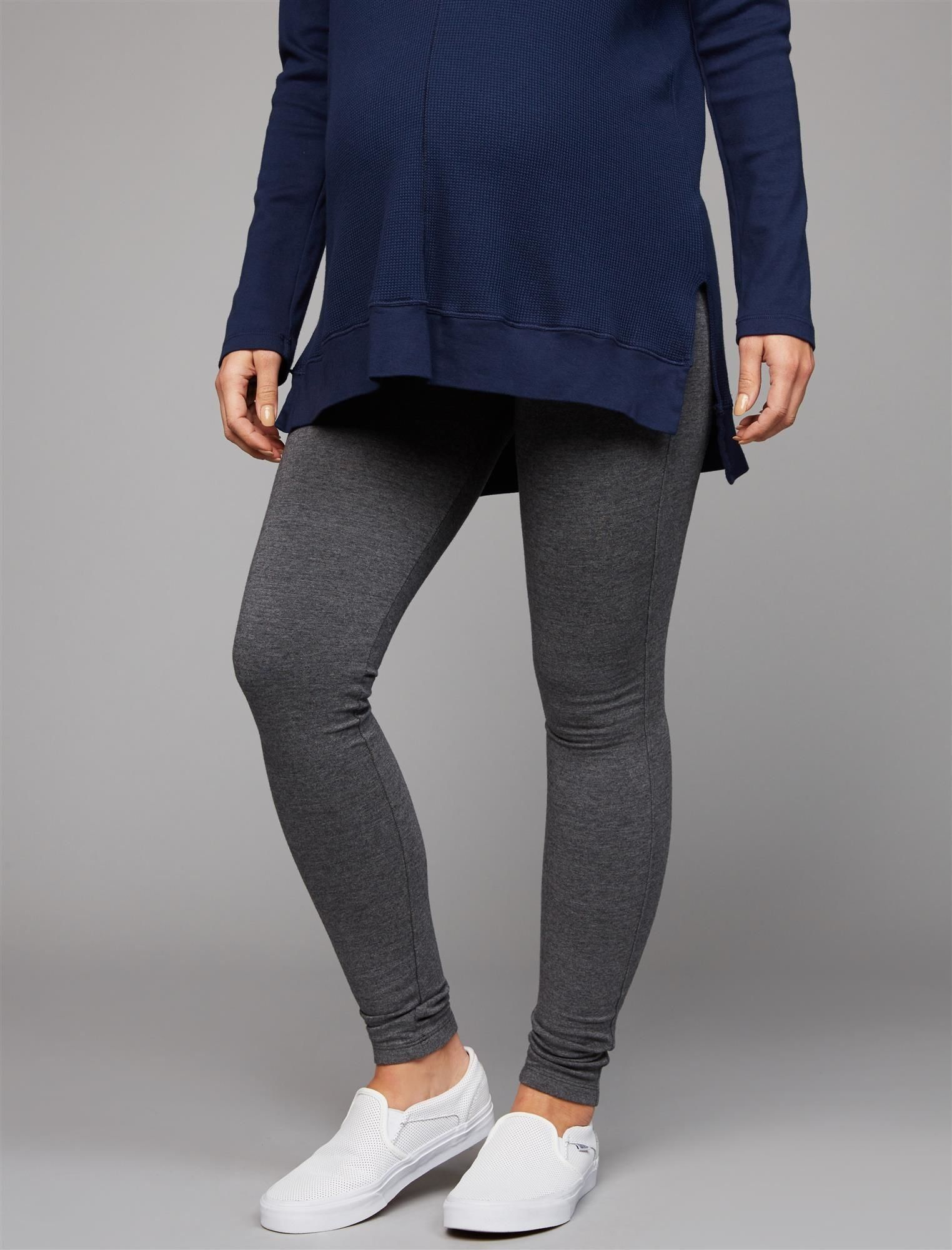 54f1572bd608b Maternity Styles - Splendid Secret Fit Belly French Terry Maternity Leggings  ** Make sure to have a look at this incredible product.