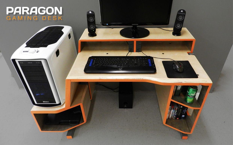 paragon gaming desk on behance technology schreibtisch tisch schreibtisch selber bauen. Black Bedroom Furniture Sets. Home Design Ideas