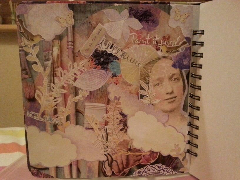 One of the pages I made in my art journal.  Made by: Natasza Tardio