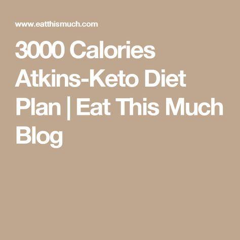 3000 Calorie Keto Diet