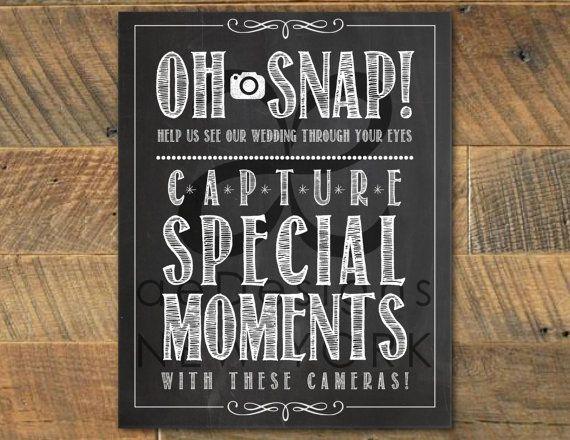 Printable Wedding Instant Camera Sign Rustic Chalkboard Etsy In 2020 Wedding Camera Disposable Camera Wedding Unplugged Wedding Sign