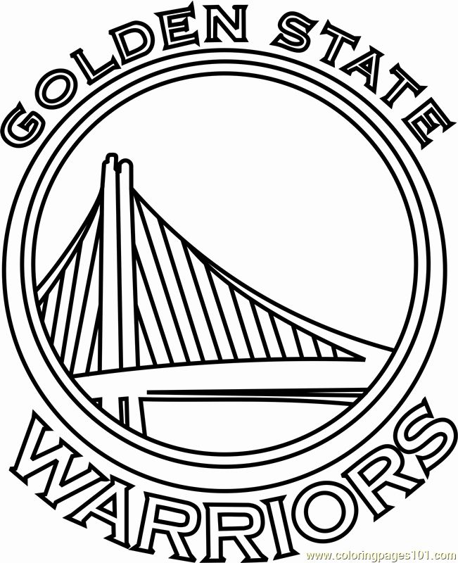 Golden State Warriors Coloring Page Awesome Golden State Warriors Coloring Page Free Nba C Golden State Warriors Logo Golden State Warriors Colors Warrior Logo