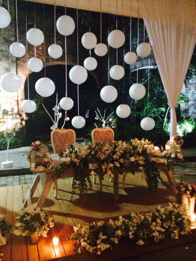 Mesa de novios de noche vintage tarjetas de boda - Decoracion de salones vintage ...