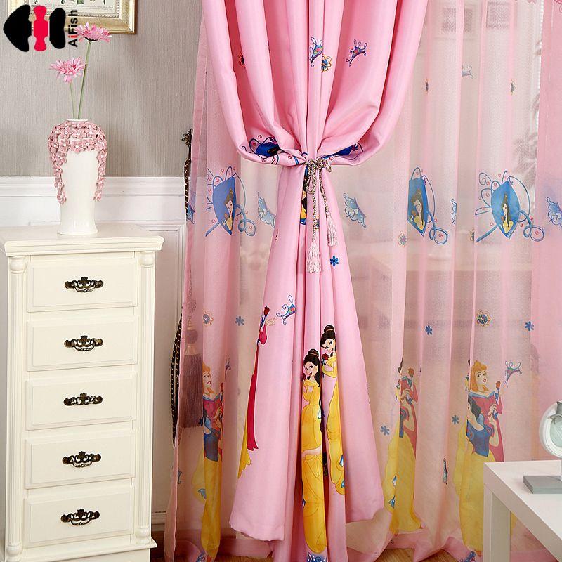Goedkope Roze Prinses moderne gordijnen voor meisjes slaapkamer ...