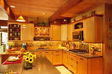 warm decor Kitchen Pinterest - Repeindre Une Vieille Cuisine