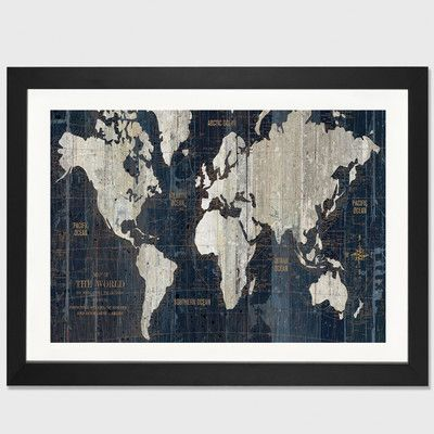 East urban home old world map blue by wild apple portfolio framed east urban home old world map blue by wild apple portfolio framed graphic art gumiabroncs Images