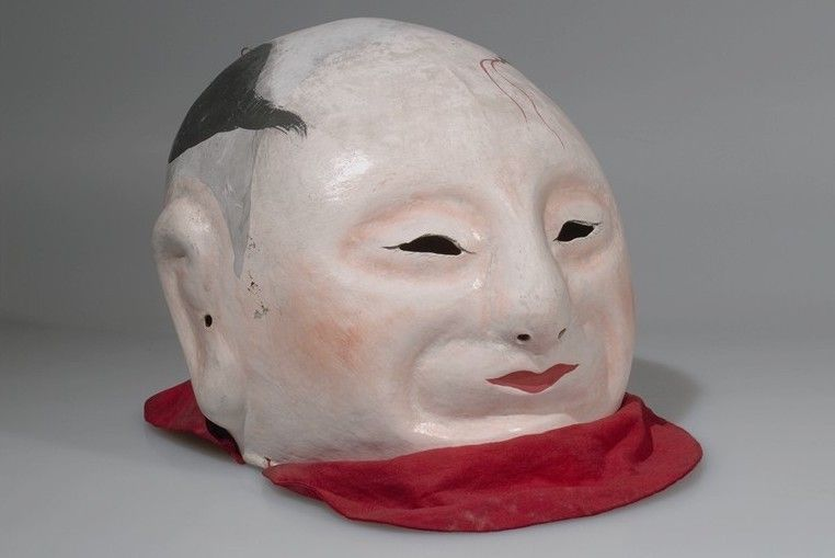 Mask. Tibet. Papier mache, pigment, cloth, string, paper, metal. Modern. Acquired in 1903. America... - #1900s #1903 #early #face #head #mask #nemfrog #tibet