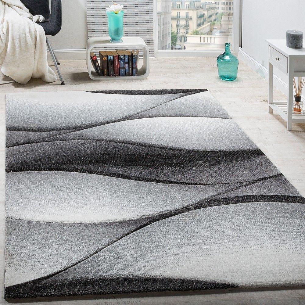 Teppiche Designer designer teppich modern abstrakt wellen optik konturenschnitt in
