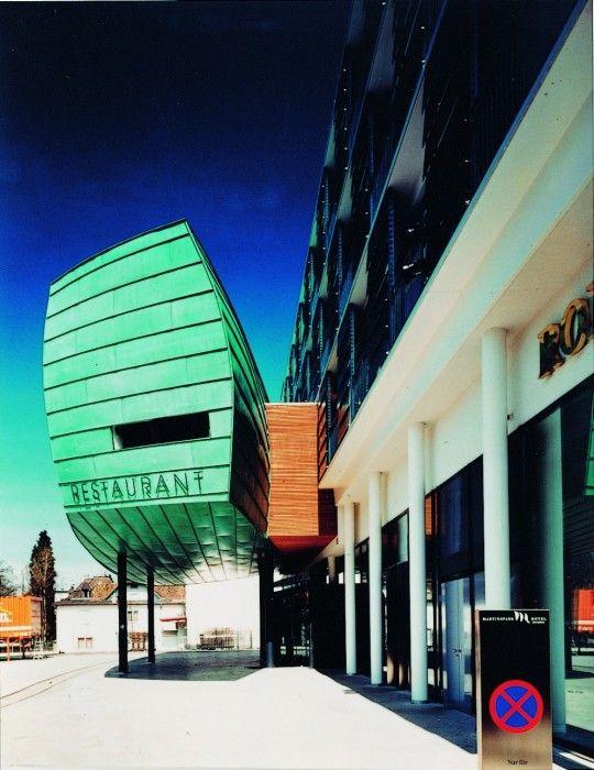 bardage en cuivre vert green copper cladding hotel. Black Bedroom Furniture Sets. Home Design Ideas