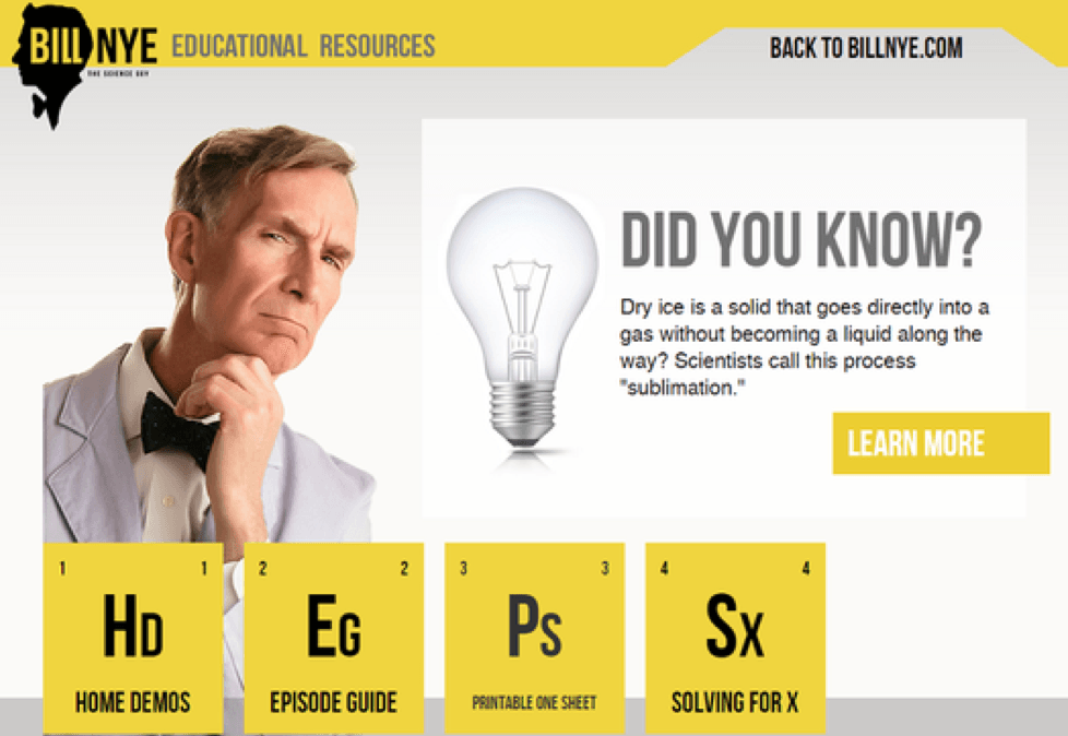 Bill Nye Periodic Table Science guy, Teaching science