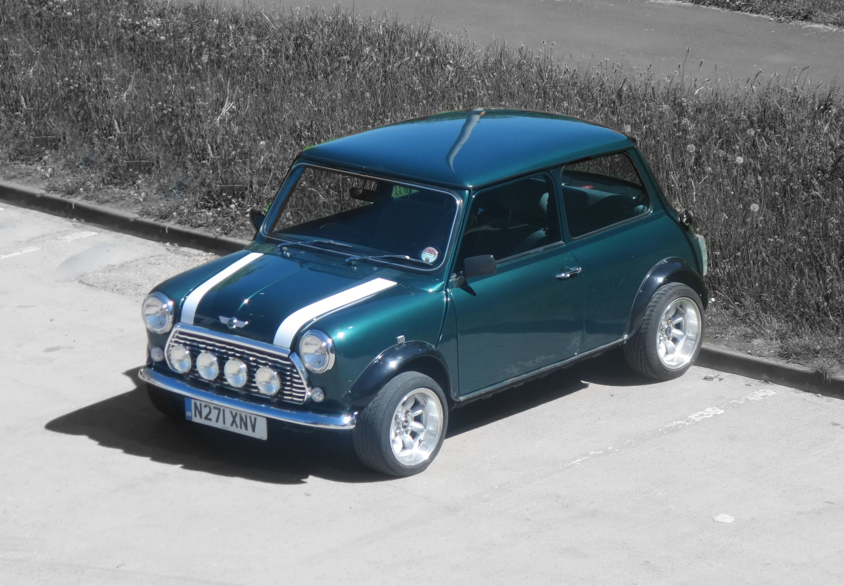 Racing Green Classic Mini at the David Manners Group http://www.jagspares.co.uk/Mini/company.asp