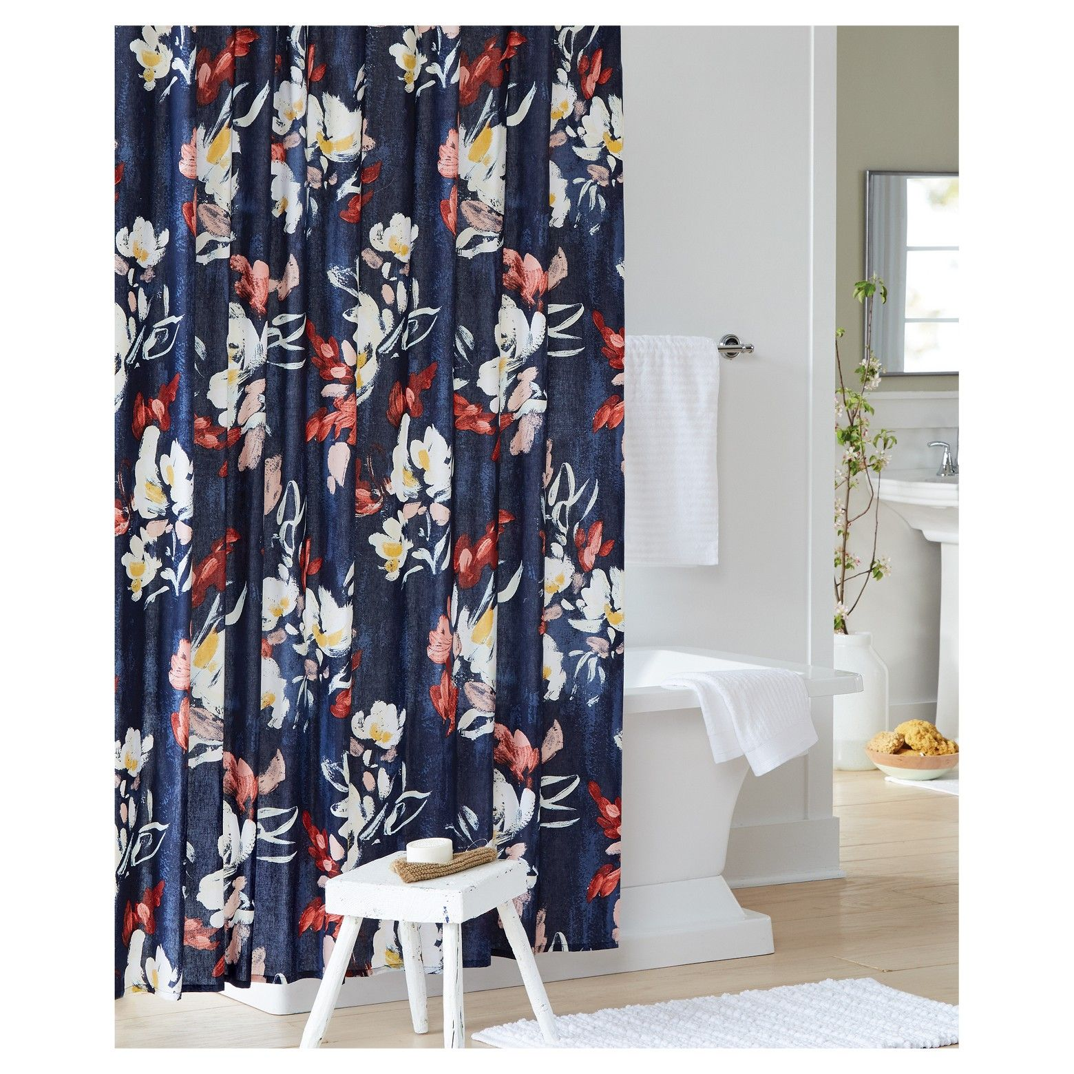 Refresh Your Bathroom Decor With The Threshold Floral Printed Shower