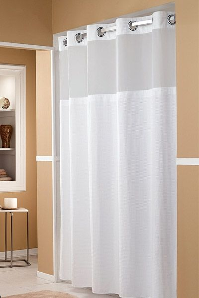 hookless shower curtain hotel shower