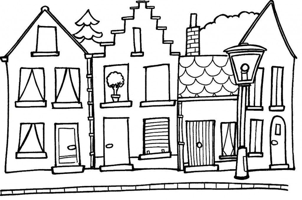 Casa Para Dibujar Az Dibujos Para Colorear Dibujo De Casa Dibujos De Casas Infantiles Paginas Para Colorear Para Ninos