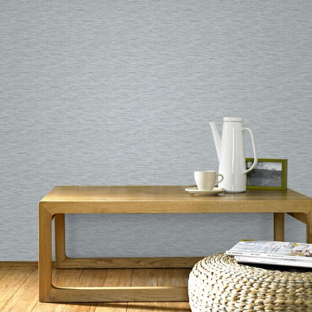 Breeze Gray and Silver Removable Wallpaper Sample  Wallpaper