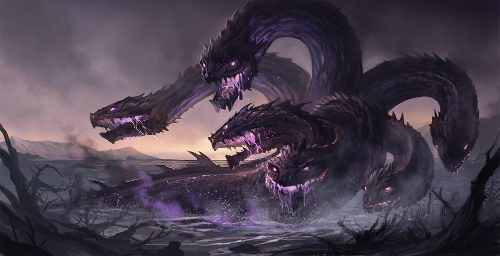 Hydra (DIPSY demo) | Criaturas mitológicas, Dragón de fantasía, Criatura