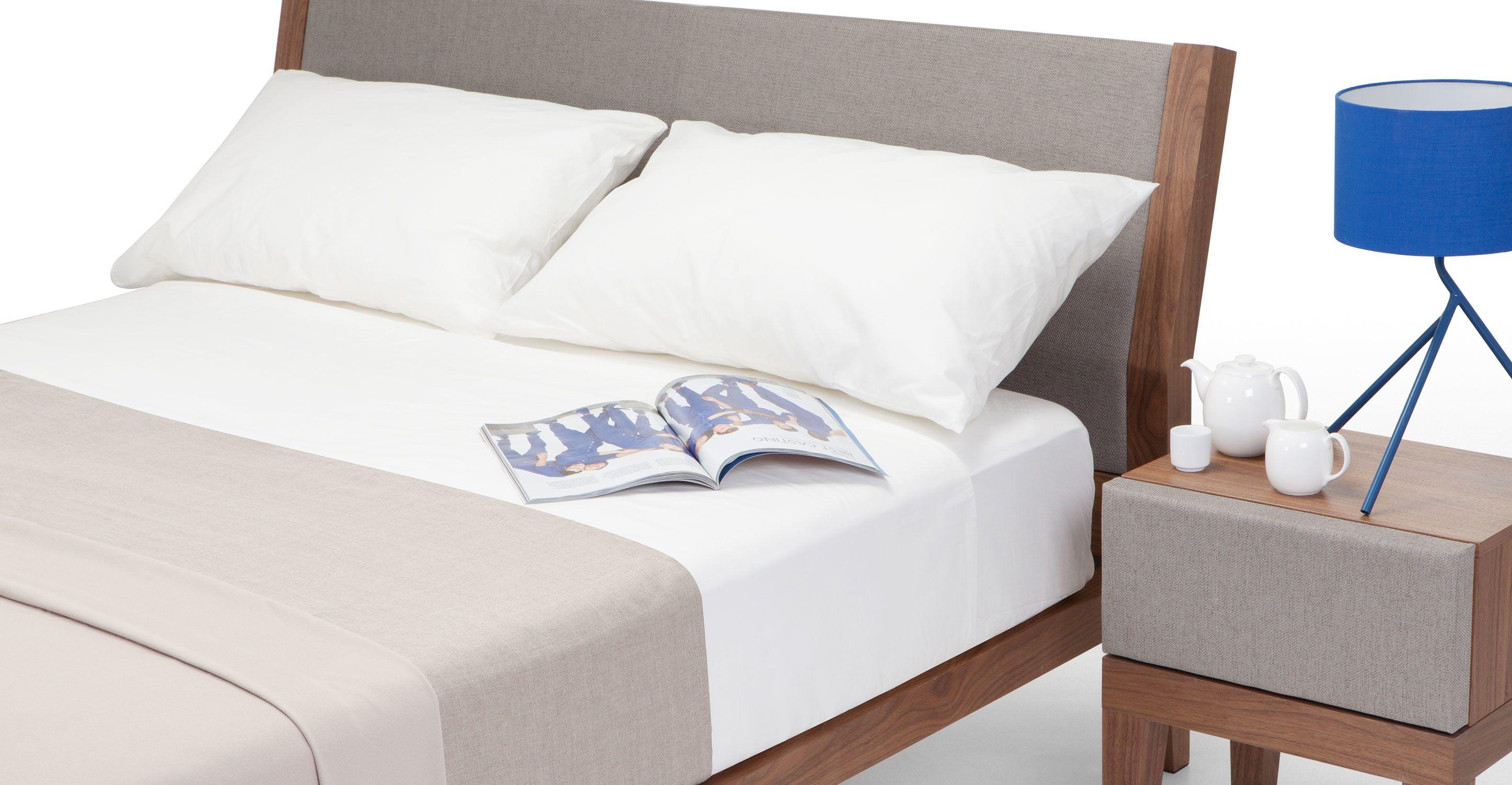 Lansdowne Holzbett 140 X 200 Cm Walnuss Und Fischreihergrau Bett Ideen Doppelbetten Und Bett