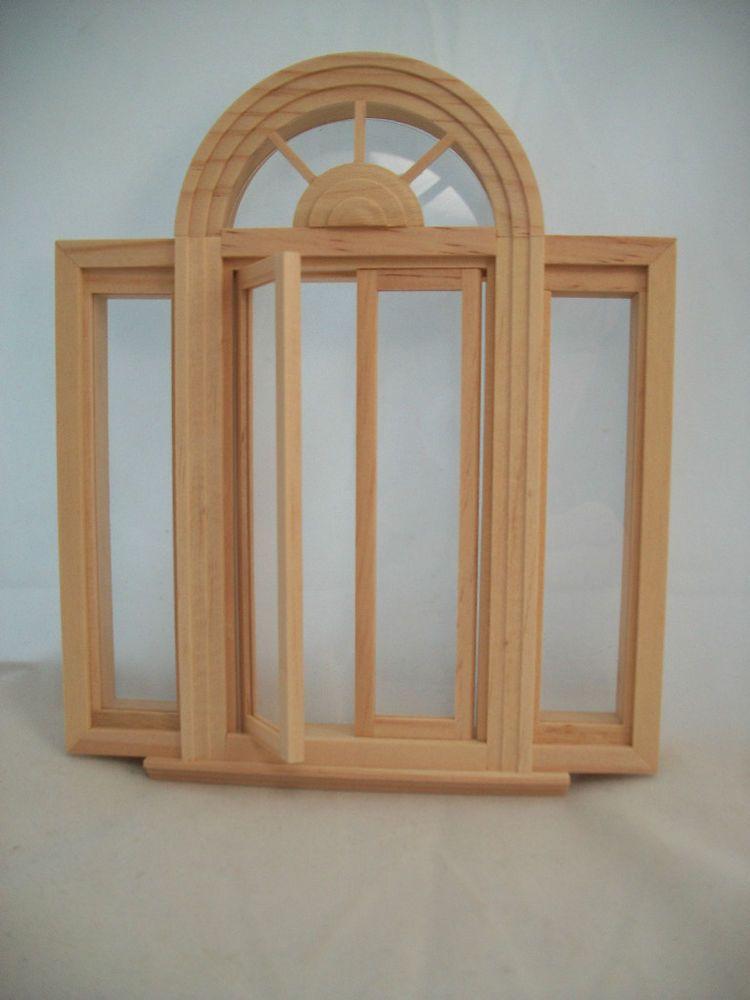 Tudor Diamond Style 2114 wood dollhouse miniature 1:12 scale USA made Window