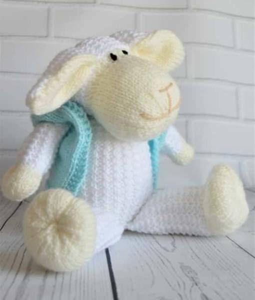 Sheep Knitting Pattern Toy Sheep Knitting Pattern Lamb Knitting