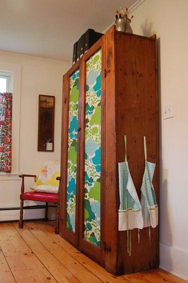 Kid's Room Storage Idea Change the fabric to match any decor