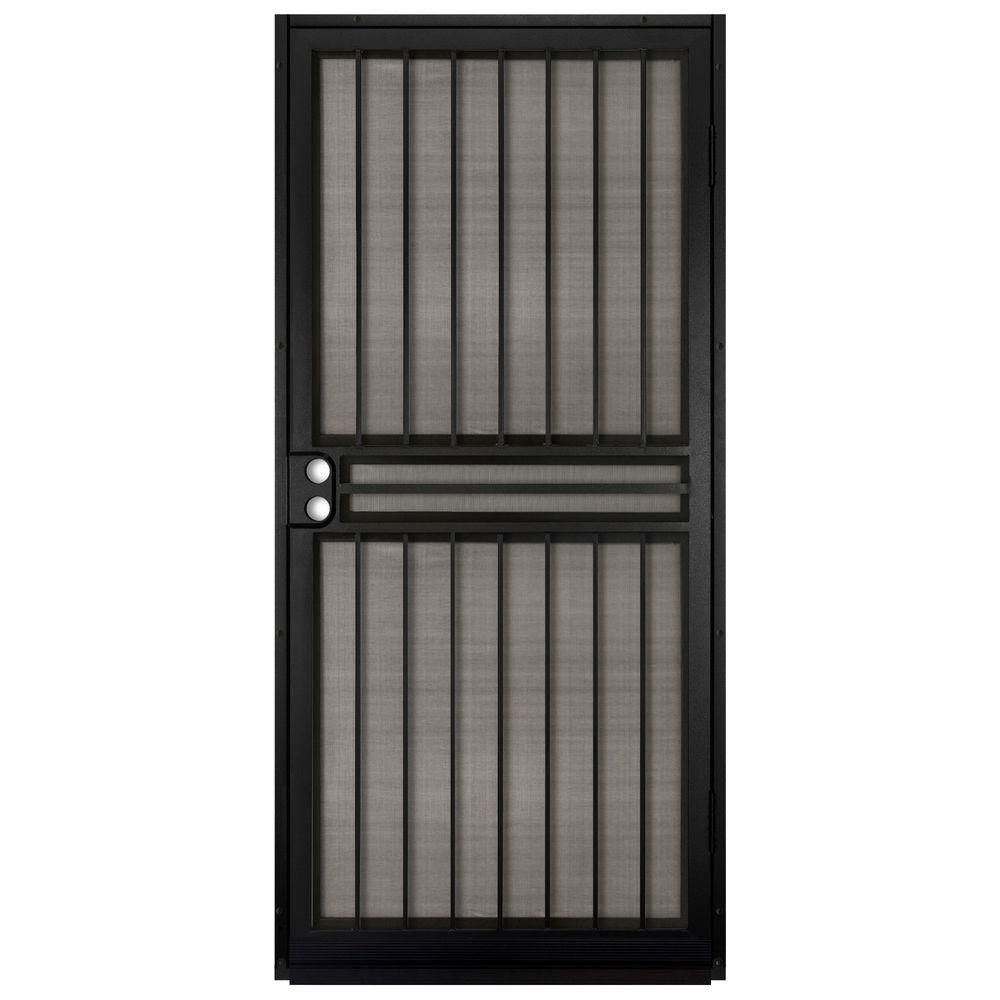 Unique Home Designs 36 In X 80 In Guardian Black Surface Mount