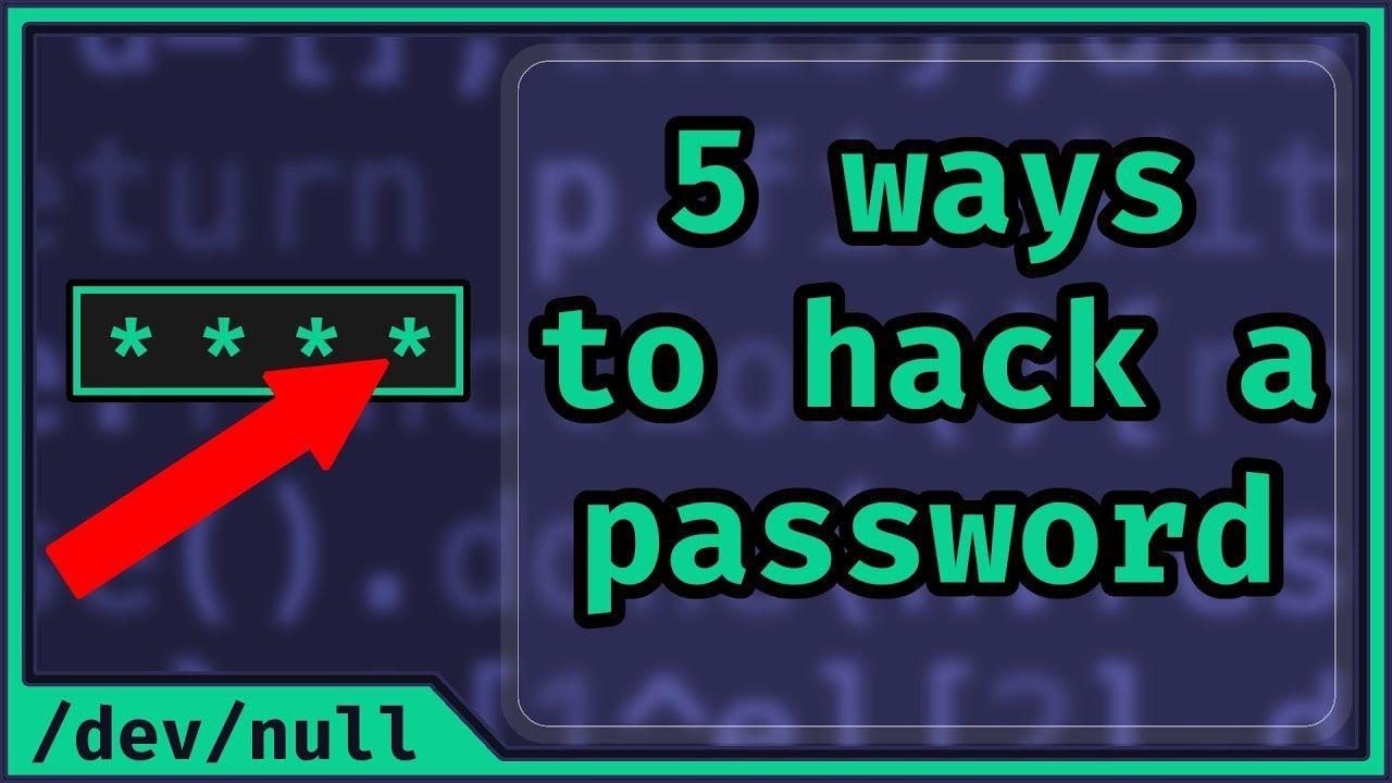 5 Ways To Hack A Password Beginner Friendly Hacking -3889