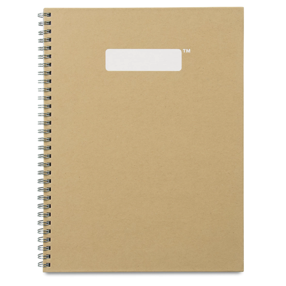 90pages A5 Bullet Journal Dotted Grid Hardcover Cardboard Notebook Spiral Diary