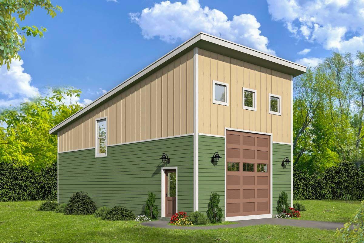 Plan 68512vr Lift Friendly Modern Garage With Loft Garage Plans