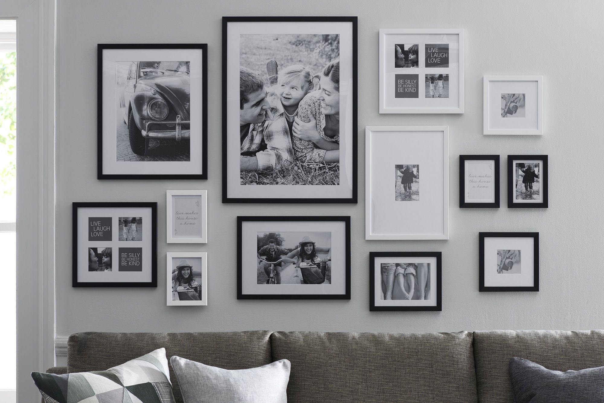 Decorate your walls with moments and people you never want for Living room gallery wall