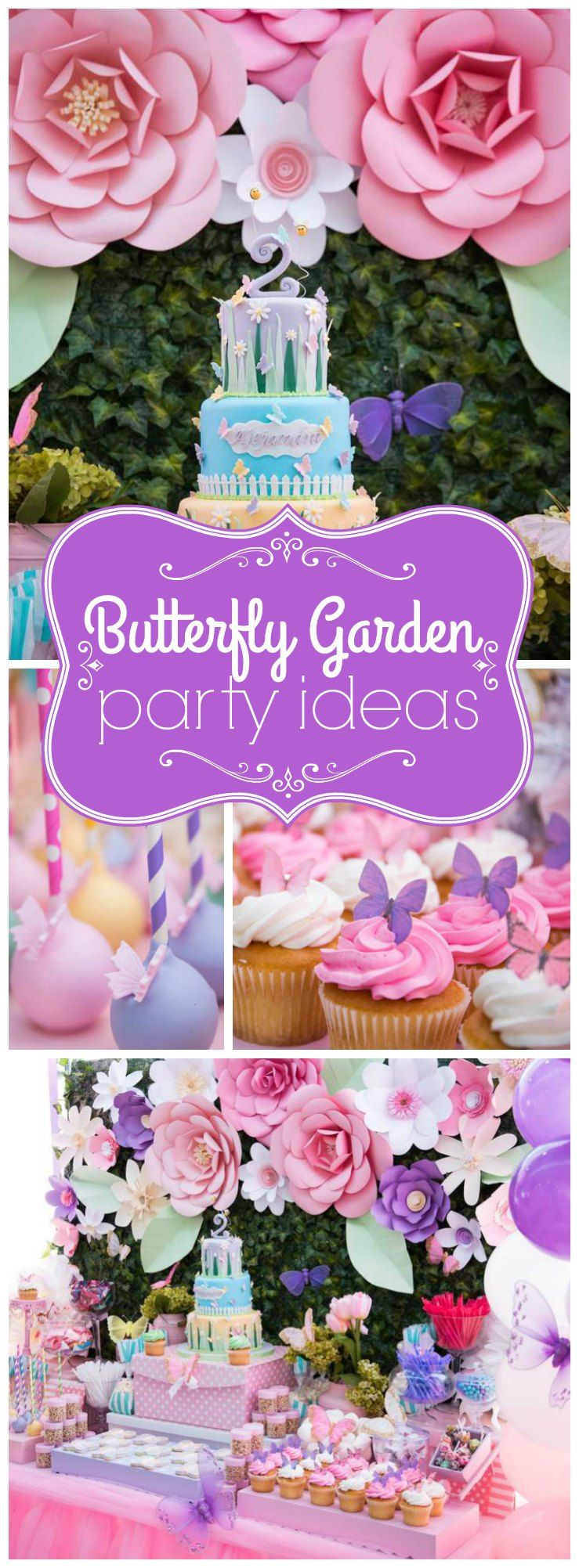 "Ideas For Girls Butterflies And Flowers Birthday Party  Birthday ""garden Birthday"