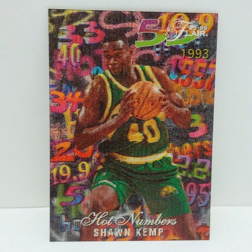 Shawn Kemp 199596 Flair Hot Numbers 5 NBA Basketball