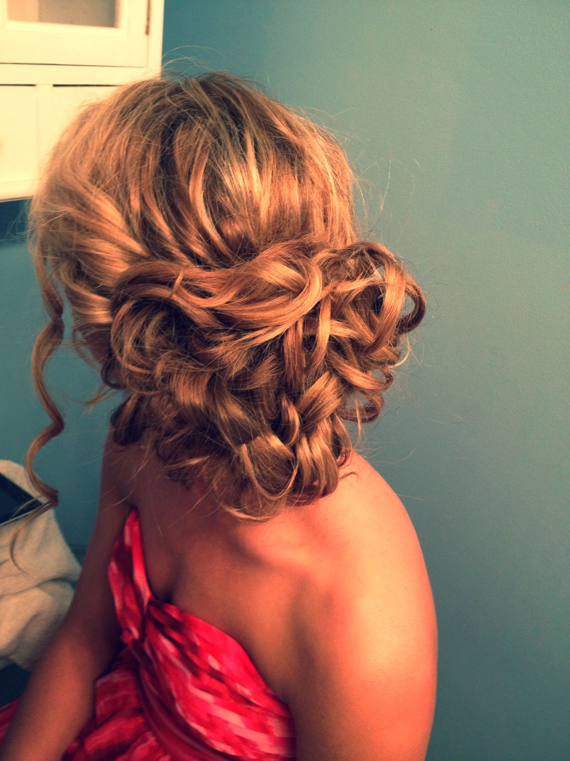 curly hair updo #formal #prom #hair