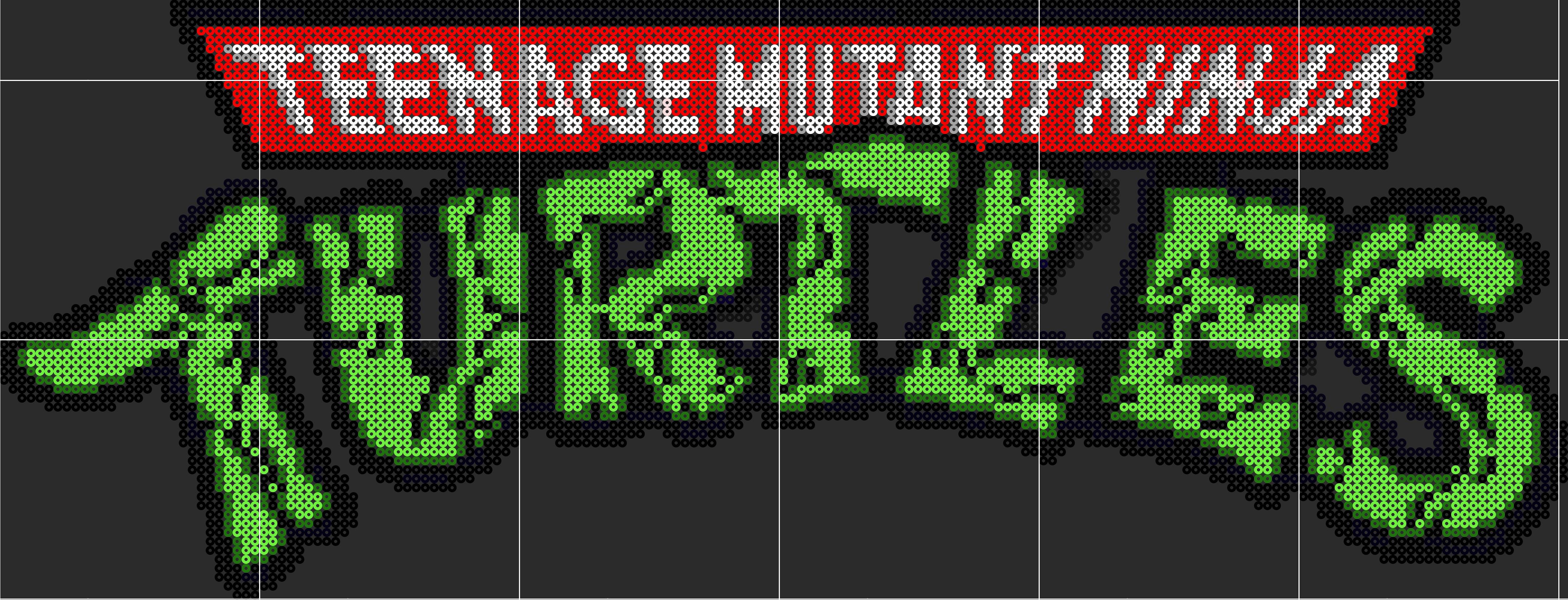 Tmnt Logo Sprite Template By D1a13lo D7wzmu4 Png 4375 1675 Tmnt Sprite Pixel Art Grid