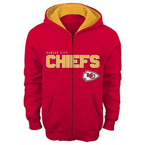 7c87eae003c NFL Youth Boys 820 Kansas City CHIEFS STATED FZ FLC HOODIE TMC Red L 1416  *. Fleece HoodieFull Zip ...