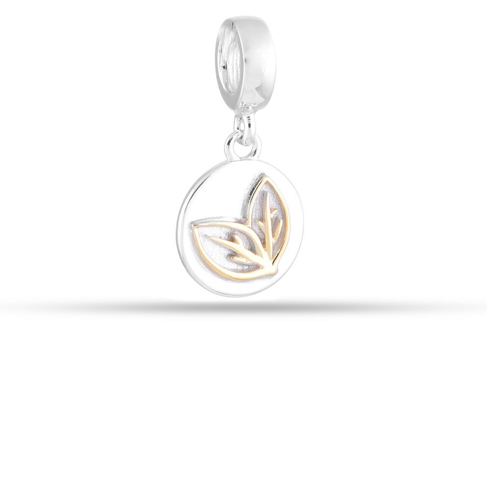 Goldplated Silver Peace Charm For Bracelet Necklace Delicate Silver