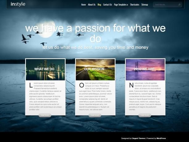 Instyle Business Wordpress Theme Elegant Themes Http Www Wpproreview Com Instyle Elegant Themes Word Elegant Themes Best Wordpress Themes Wordpress Theme