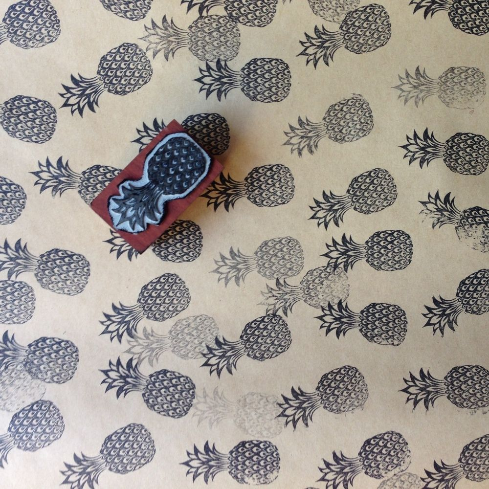 Pineapple Stamp | Wooden HandlePineapples, Pineapples Everywhere. This stamp can be used for wedding stationery, gift tags, gift wrapping, envelopes, branding or anything!! Stamp is rubber base with quality hardwood handle. Size is approximately 35x60mm.*please note stamp pad not included// FREE SHIPPING IN AUSTRALIA //