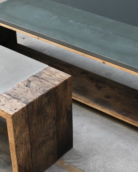 Beton-moebel-bank-sidebord_00 | Möbel | Pinterest | Bänke ...