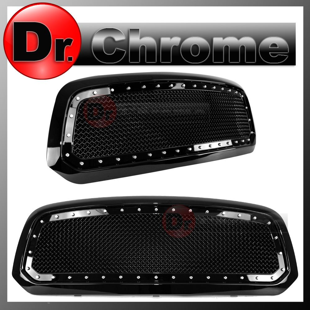 Fits 2013-2018 Dodge Ram 1500 R Style Mesh Black Honeycomb Grill