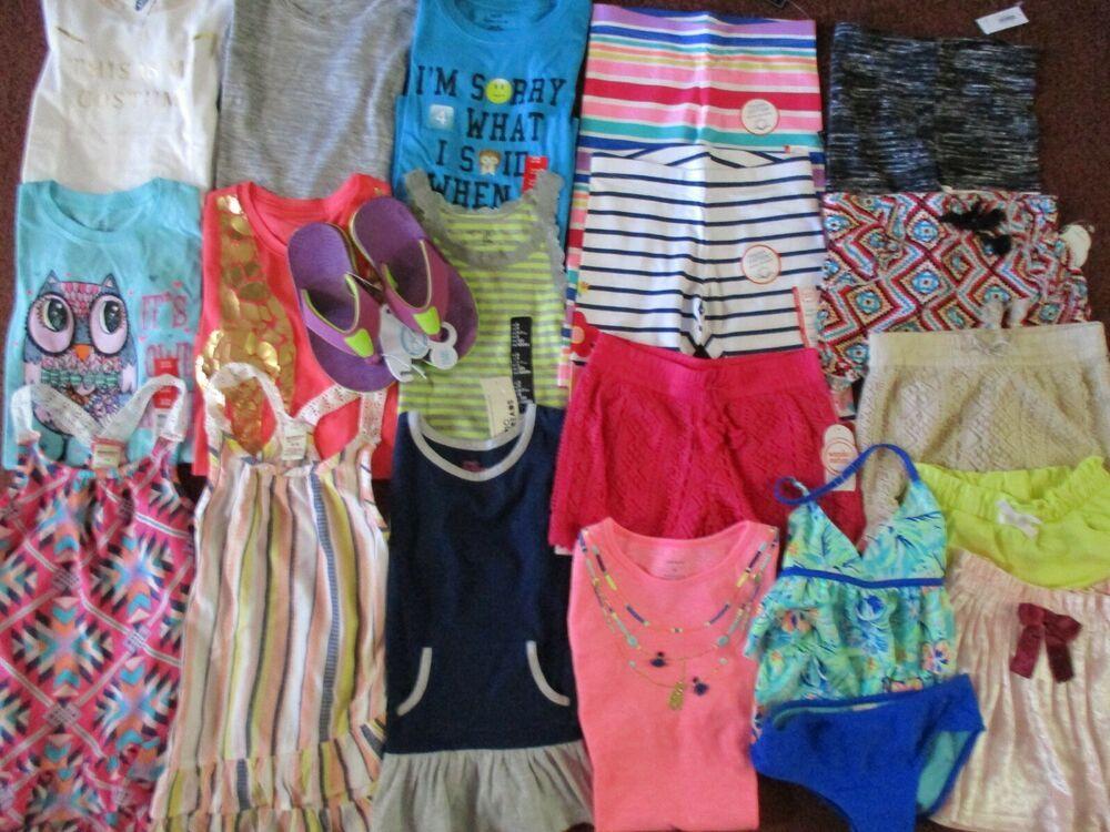 5621b9658dba eBay #Sponsored Girls HUGE Size 6 6X Spring Summer School Clothing Name  Brand LOT NEW! NWT