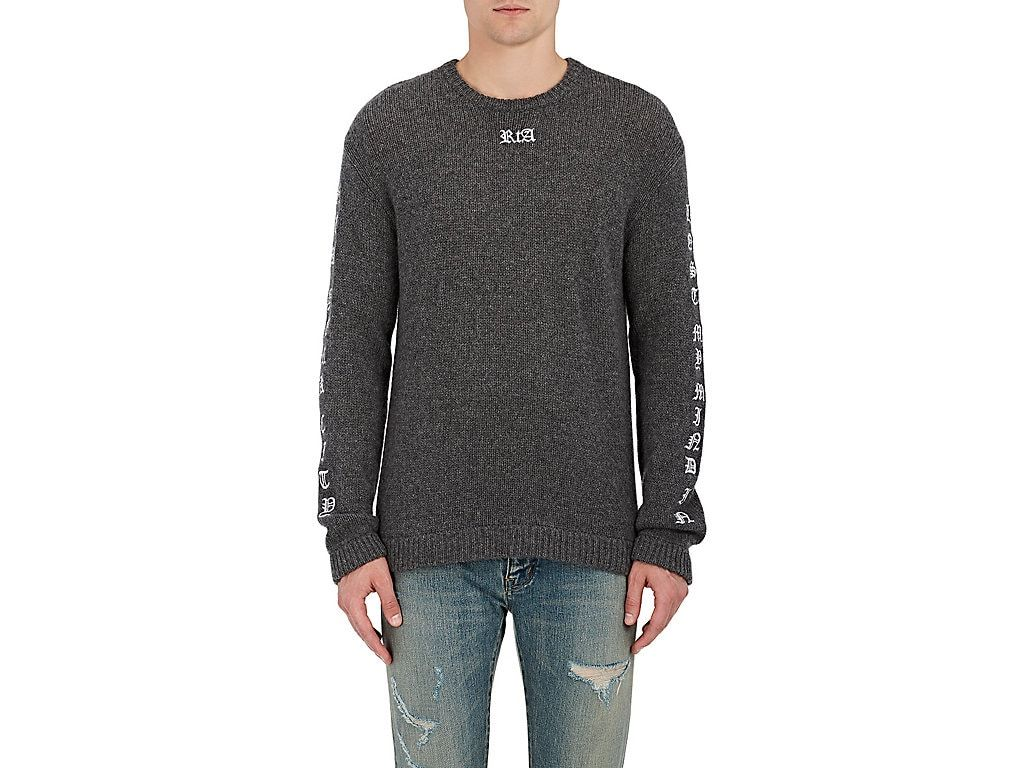 7b645637 RTA GOTHIC-EMBROIDERED CASHMERE SWEATER. #rta #cloth # | Rta Men ...