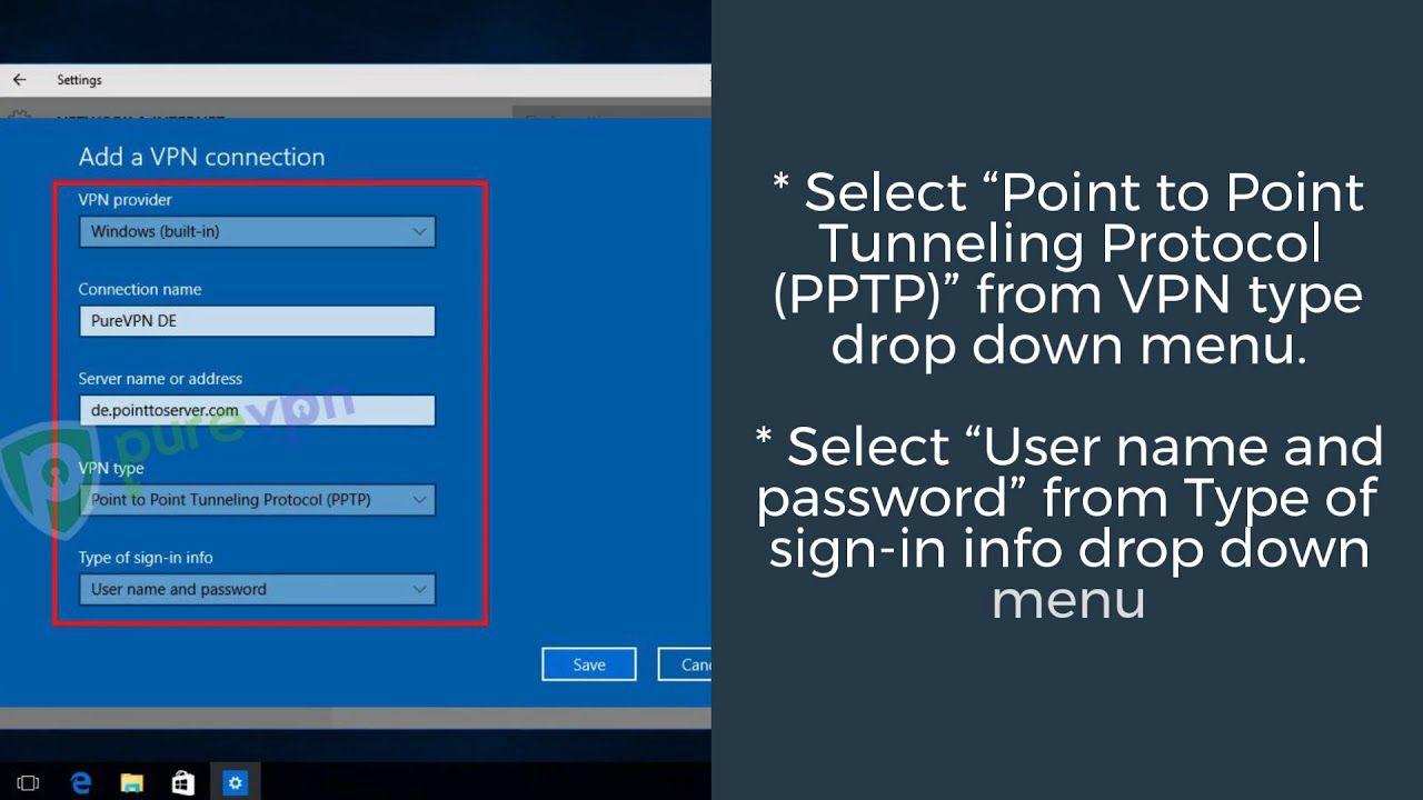 Windows 10 Vpn Server Name Or Address