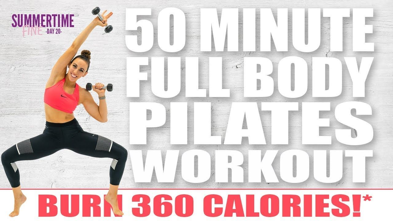 Around 270 calories 50 Minute FULL BODY PILATES SCULPT Workout 🔥Burn 360 Calories!*🔥 Sydney Cummings - YouTube #pilatesworkoutvideos