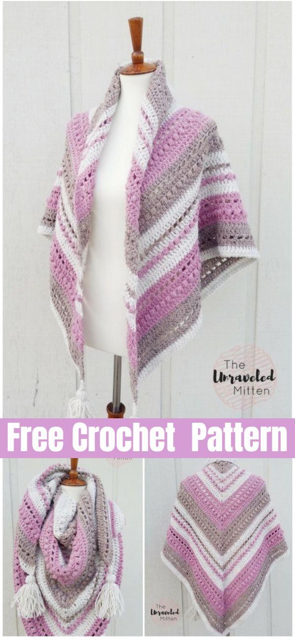 What You Love Shawl Free Crochet Pattern #shawlcrochetpattern
