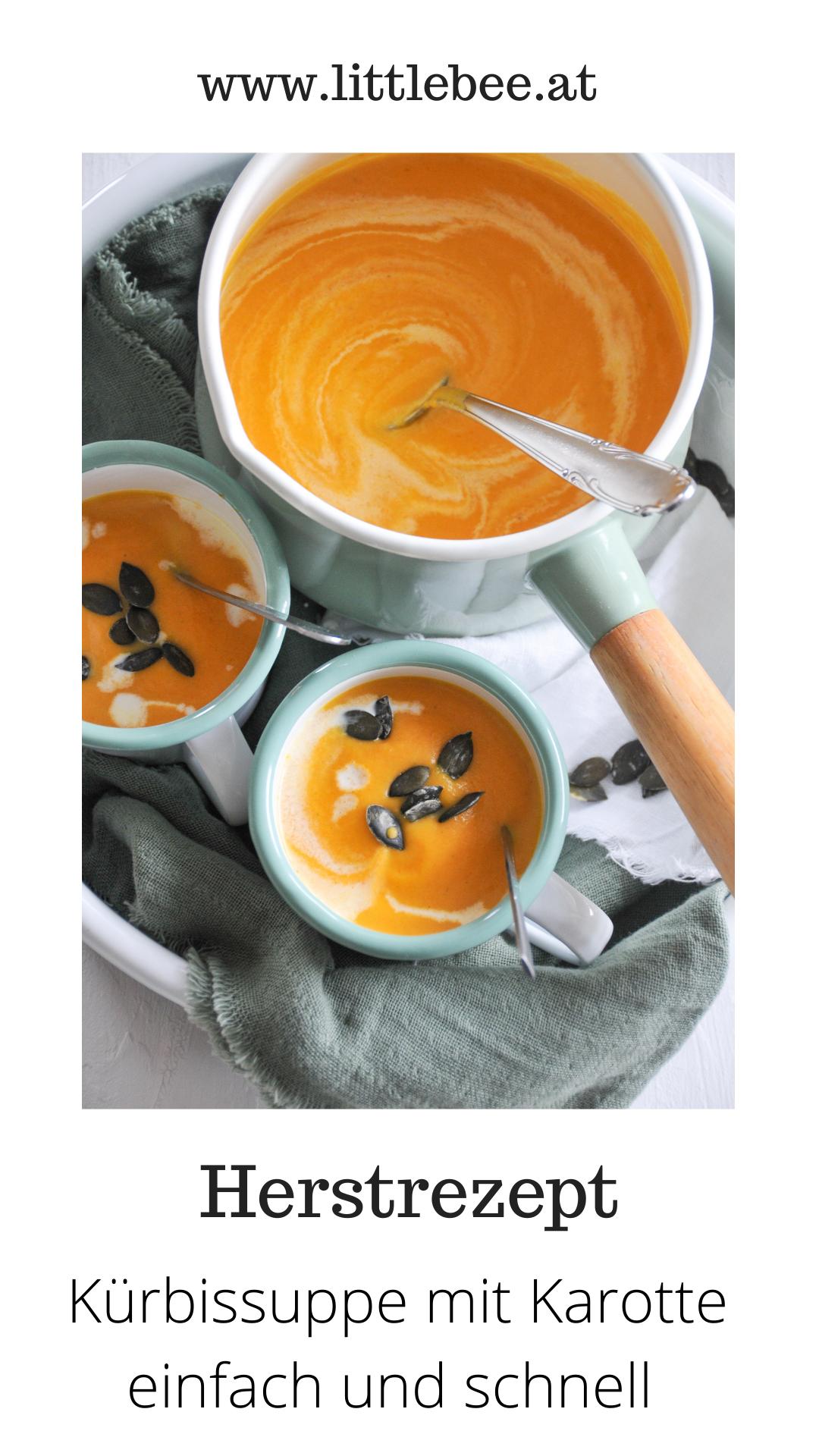 Kürbissuppe mit Karotten   wohlige Wärme von Innen
